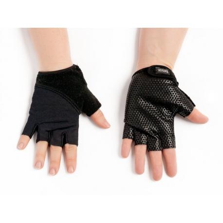 Protišmykové rukavice na jogu TOESOX - čierne