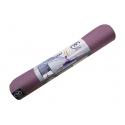 Podložka na jogu EVOLUTION, ekologická - aubergine/sivá, hrúbka 4 mm