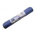 Podložka na jogu EVOLUTION, ekologická - modrá/sivá, hrúbka 4 mm