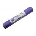 Podložka na jogu EVOLUTION, ekologická - fialová/sivá, hrúbka 4 mm