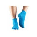Protišmykové ponožky na jogu TOESOX bez prstov - Tyrkysové Skydiver- iba M