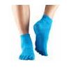 Protišmykové ponožky na jogu TOESOX bez prstov - Tyrkysové - iba M