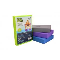 Veľký blok na jogu EVA - fialový 30x20x5 cm