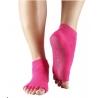 Protišmykové ponožky na jogu TOESOX bez prstov - fuchsiové S,M