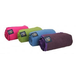 Protišmykový uterák na jogu - cyklámenový