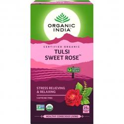Tulsi sladká ruža,porciovaný čaj,25 vreciek