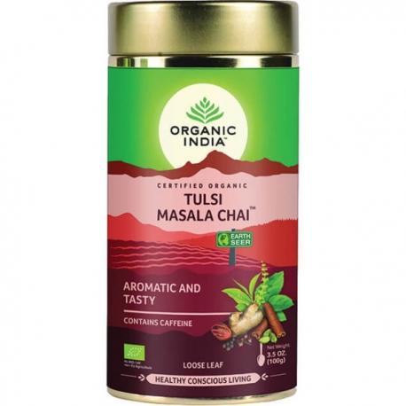 Ajurvedsky čaj tulsi s pepermitom darčeková plechovka 100g