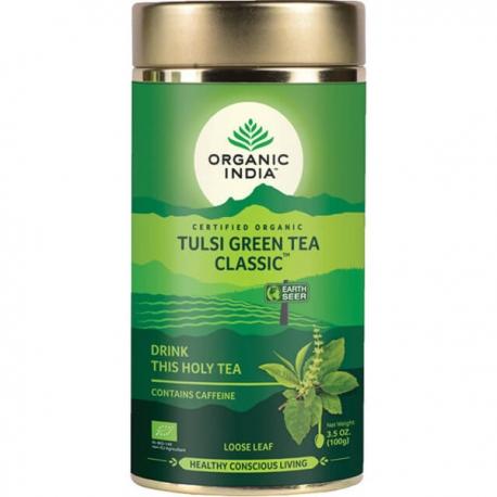 Ajurvédsky čaj Tulsi  ZELENÝ,sypaný,darčeková plechovka 100g