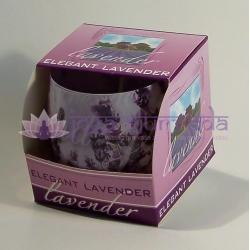 Levanduľa - vonná ozdobná sviečka v skle