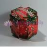 Vianočný koláč Vanilka-med - vonná ozdobná sviečka v skle