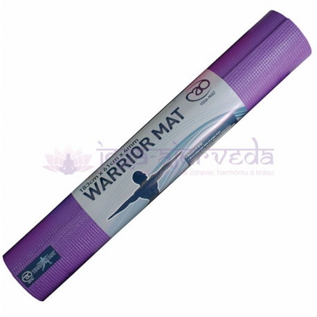 Podložka na jogu WARRIOR - fialová, hrúbka 4 mm