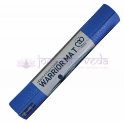 Podložka na jogu WARRIOR - modrá, hrúbka 4 mm